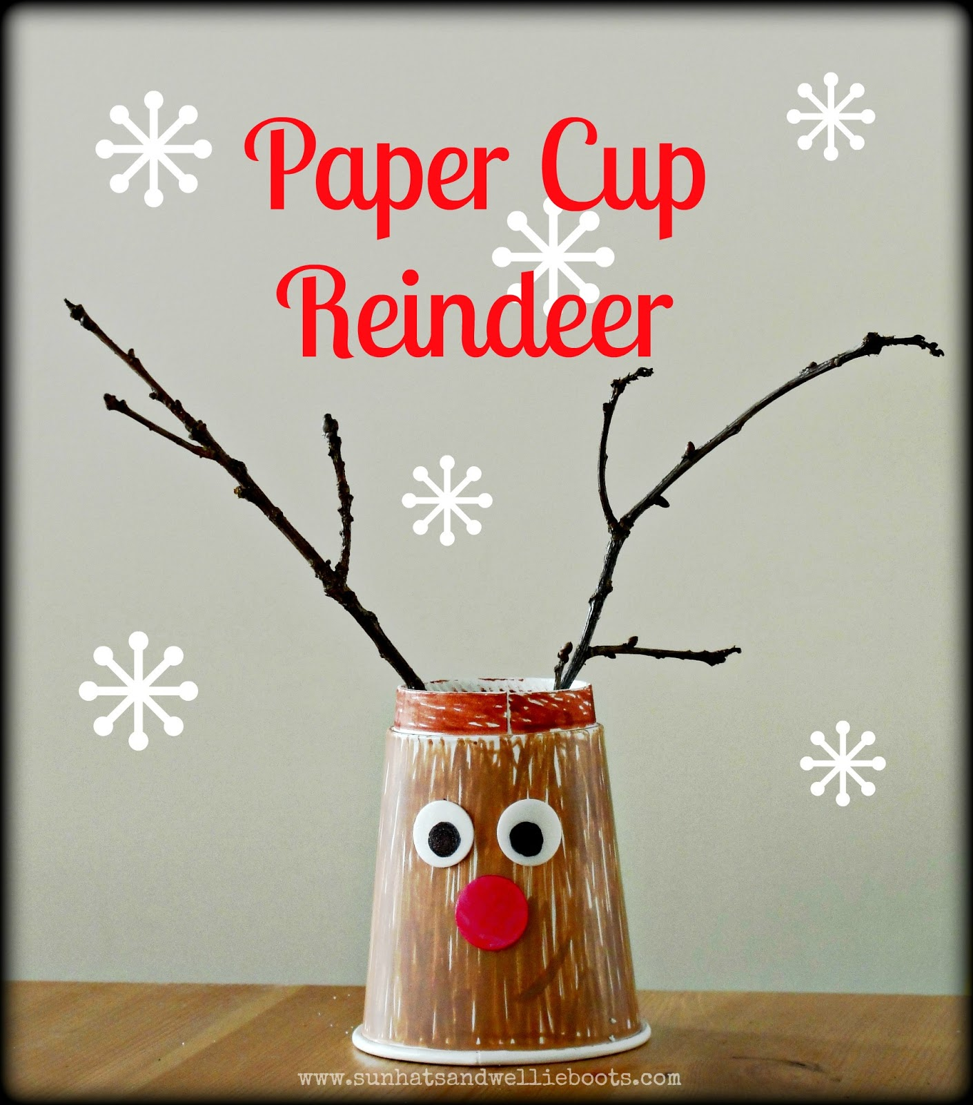 After sharing our Reindeer Tree yesterday I had to show you these paper cup reindeers. Again so simple u0026 fun for children to create u0026 they cost next to ...  sc 1 st  Sun Hats u0026 Wellie Boots & Sun Hats u0026 Wellie Boots: Paper Cup Reindeers