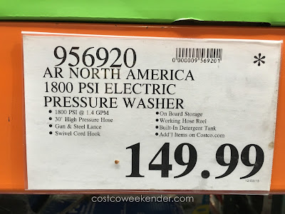 Deal for the AR Blue Clean Pressure Washer at Costco