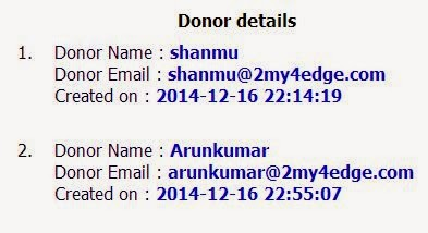 donor results