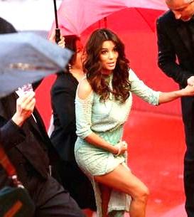 Descuido de Eva Longoria en Cannes 2013