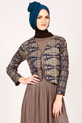 baju blazer wanita muslim, blazer batik wanita, blazer batik wanita ...