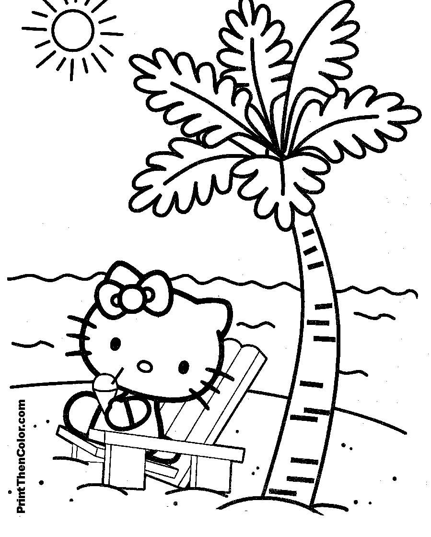 Ausmalbilder Kostenlos Hello Kitty