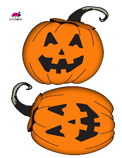 free clip art orange large pumpkin or jack-o-larntern by eridoodle