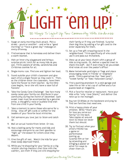 Light 'em Up - 100 acts of kindness