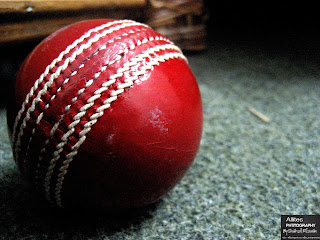 Harball used in cricket test matches. The world through a lens, Photography by Shahzil Rizwan.