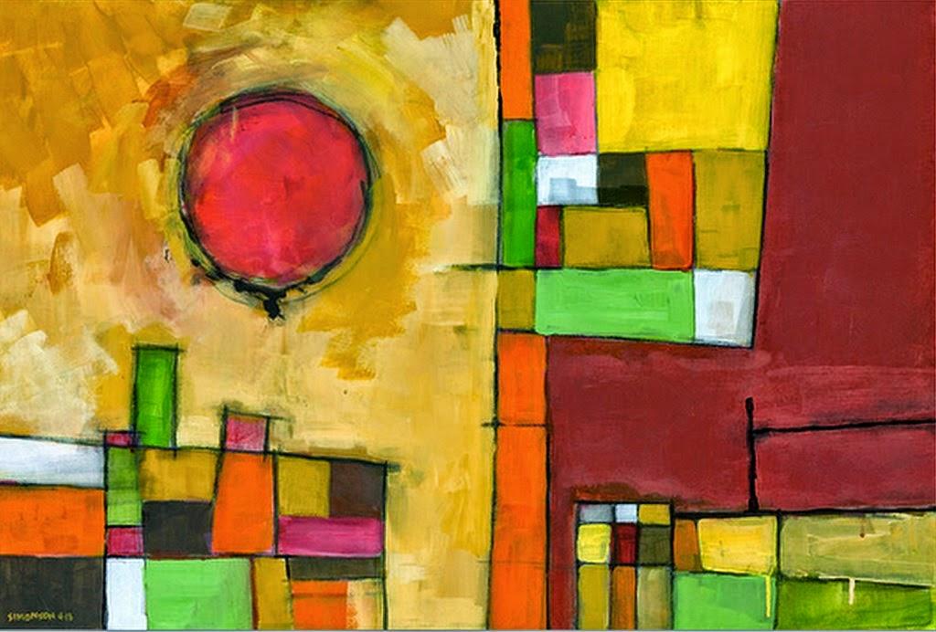 Image gallery pinturas abstractas for Imagenes de cuadros abstractos faciles