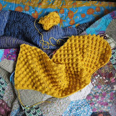 ByHaafner, crochet, bobble stitch, cowl