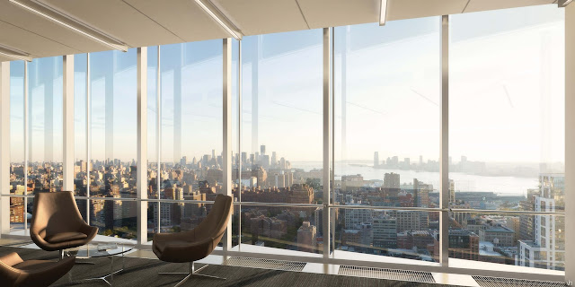 Picture of the view of Lower Manhattan from the offices in south tower