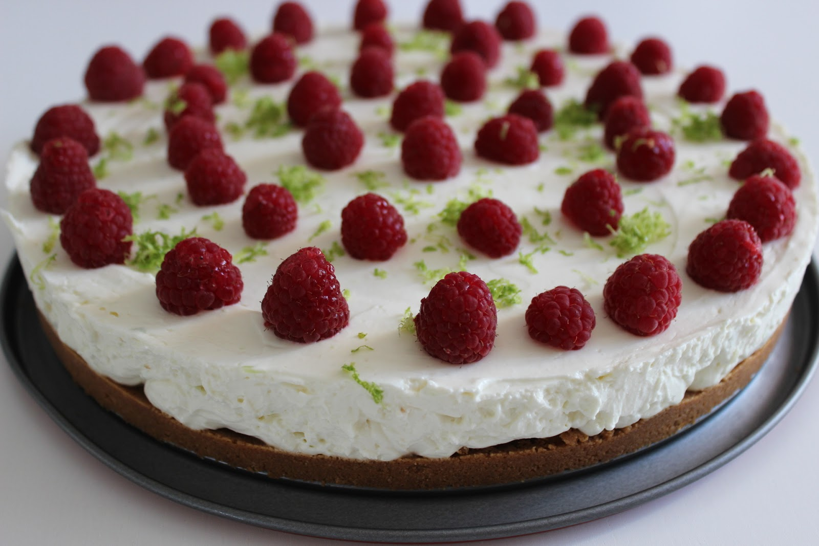 Les gourmandises de lydie cheesecake framboise citron vert sans cuisson - Cheesecake framboise sans cuisson ...