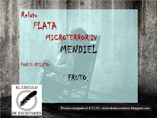 """Premio Plata - Concurso  """"Microterror IV"""""""