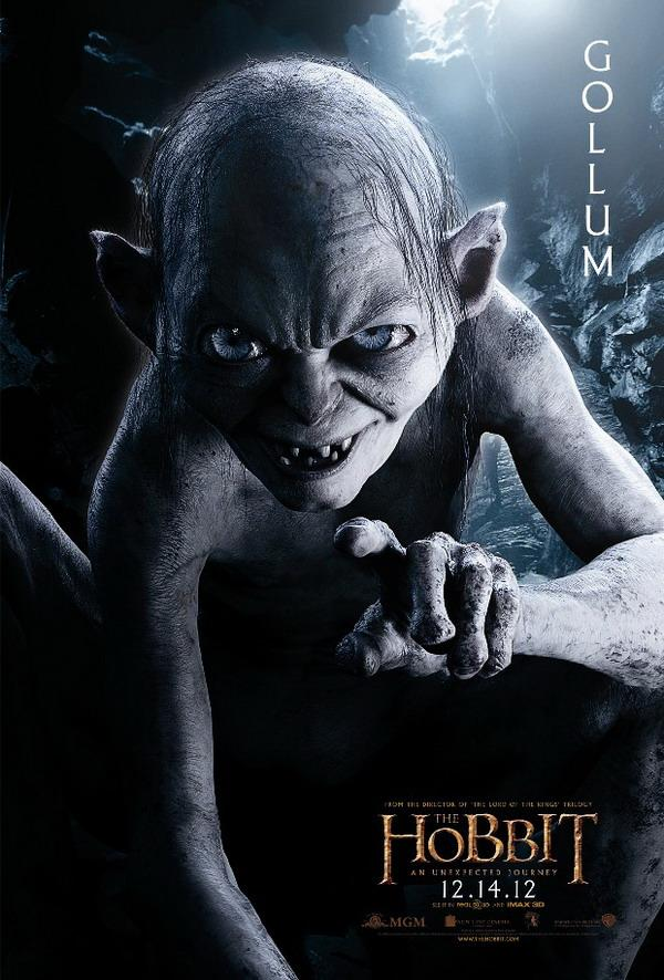 the hobbit, an unexpected journey, gollum