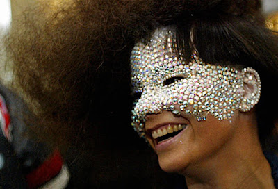 Bjork jewelled mask