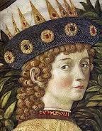 """Lorenzo il Magnifico (particolare tratto dall'affresco """"L'adorazione dei Magi"""" di Benozzo Gozzoli)"""