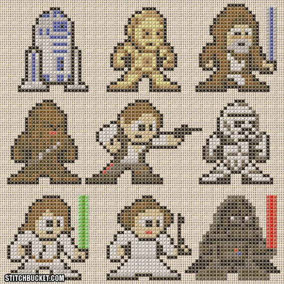 Star wars ideas para fanáticos.: Patrones para Tejidos. Gratis