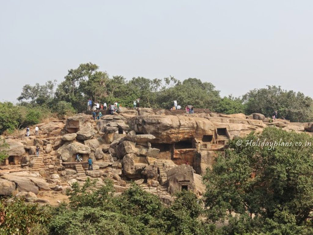 Aerial view of Khandagiri caves
