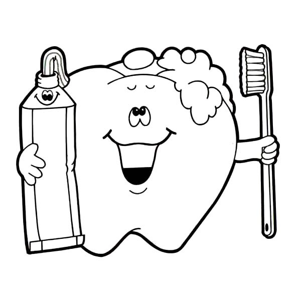 Jobs Coloring Kids Brushing Teeth Coloring Page