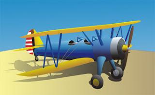 Avião feito no CorelDRAW