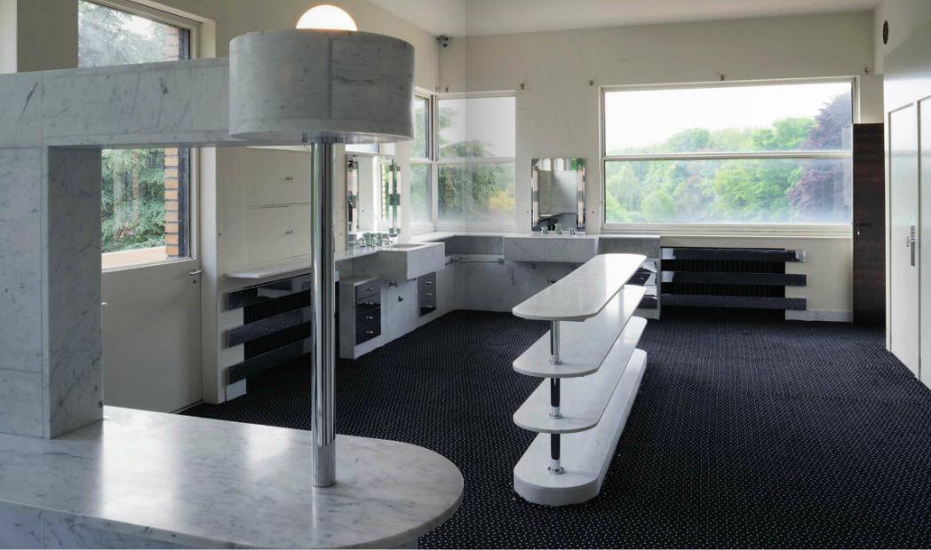 le blog des amis de la villa cavrois la salle de bains parentale. Black Bedroom Furniture Sets. Home Design Ideas