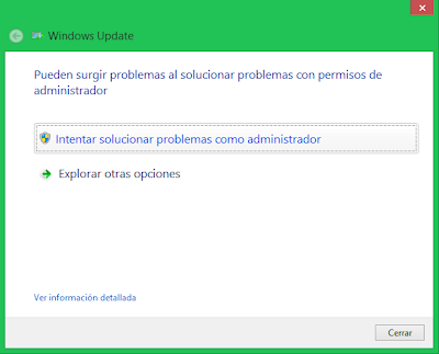 Solucionar problemas de Windows Update