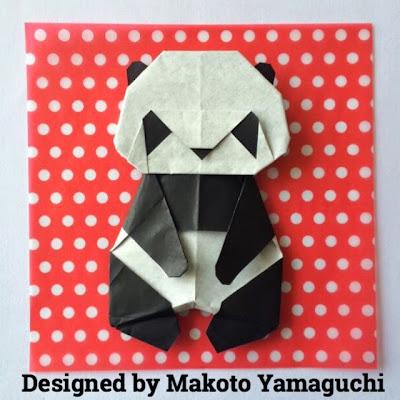 かわいい折り紙パンダ