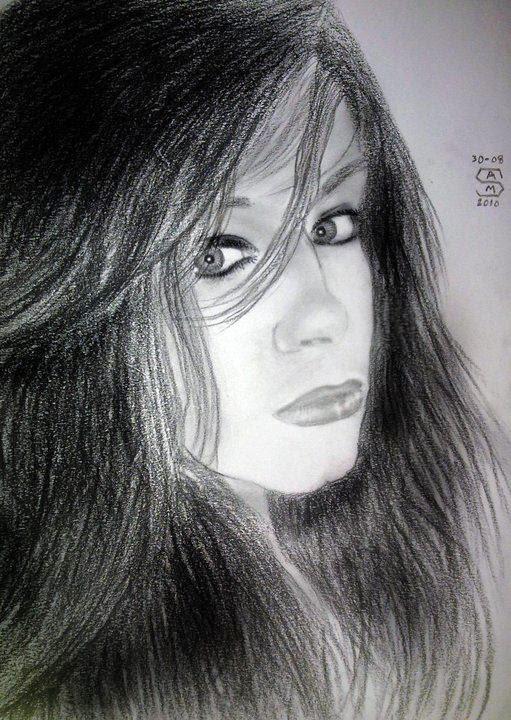 princess Olya Ukraneya pencil portrait