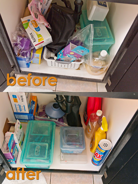 easy under the sink reorganization