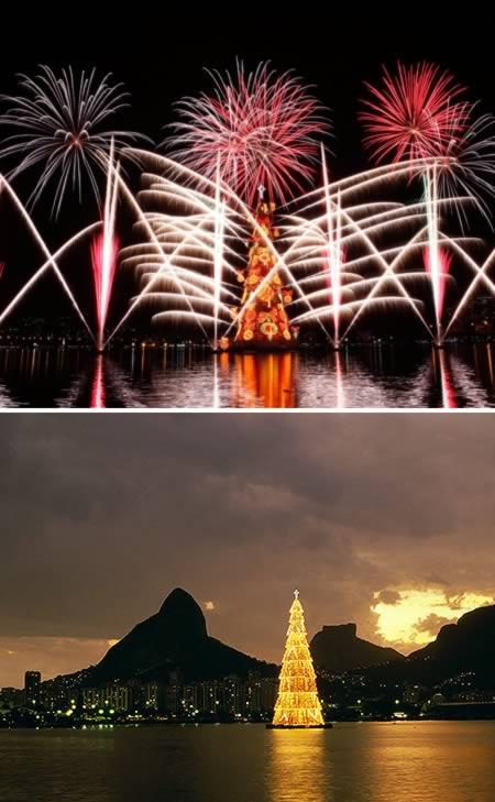 1 El árbol flotante de navidad mas grande del mundo-Brasil