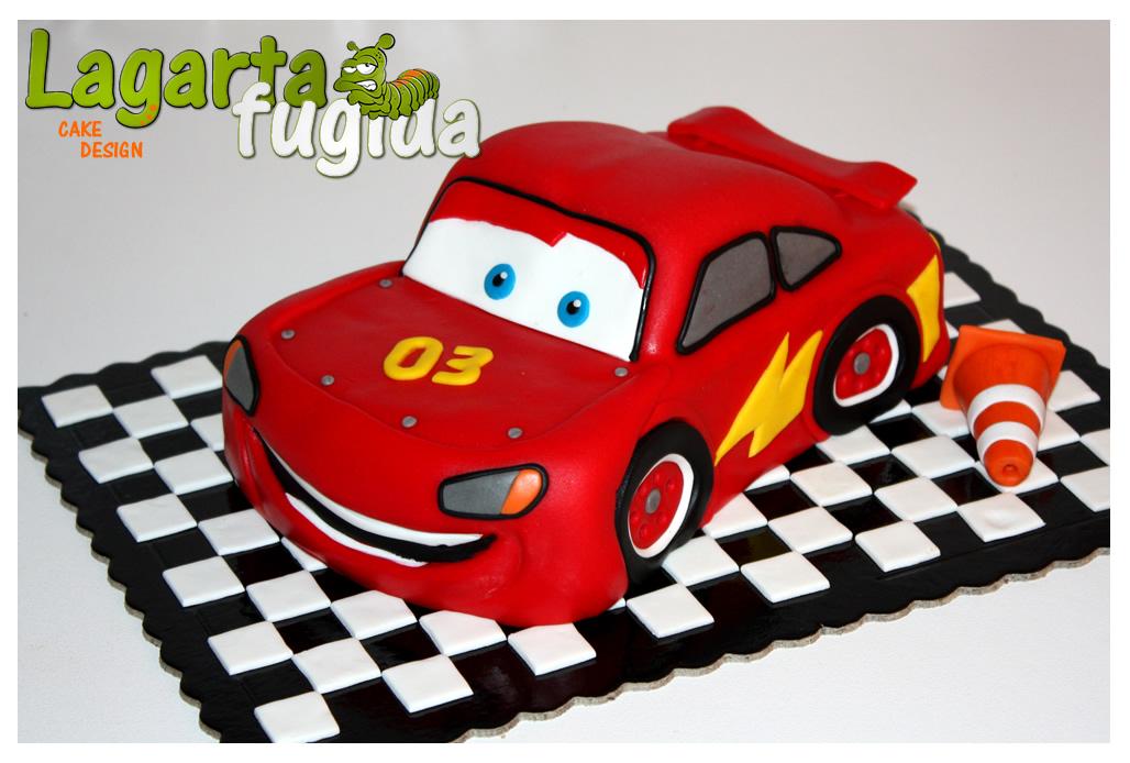 Lagarta Fugida Cake Design: Faisca McQueen