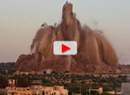 Video detik-detik hancurnya pangkalan militer Suriah di Idlib