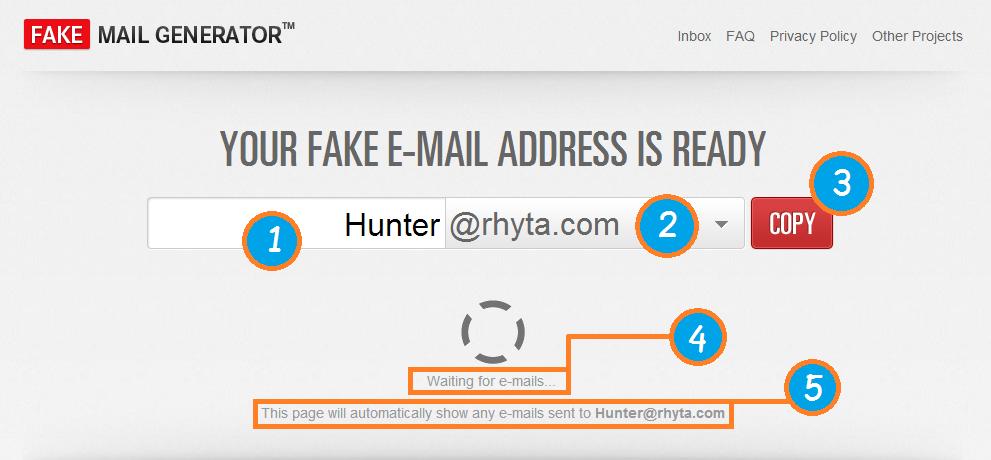 email generator temp mail fake email