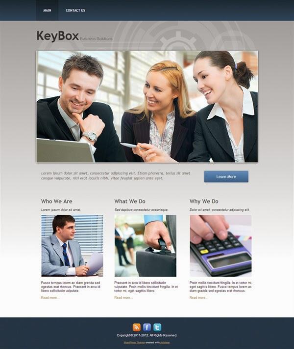 KeyBox - Free Wordpress Theme