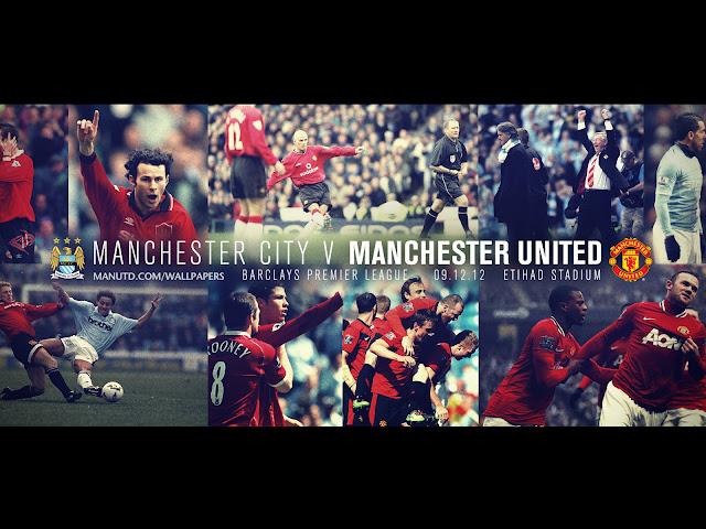 derby manchester city vs manchester united wallpaper