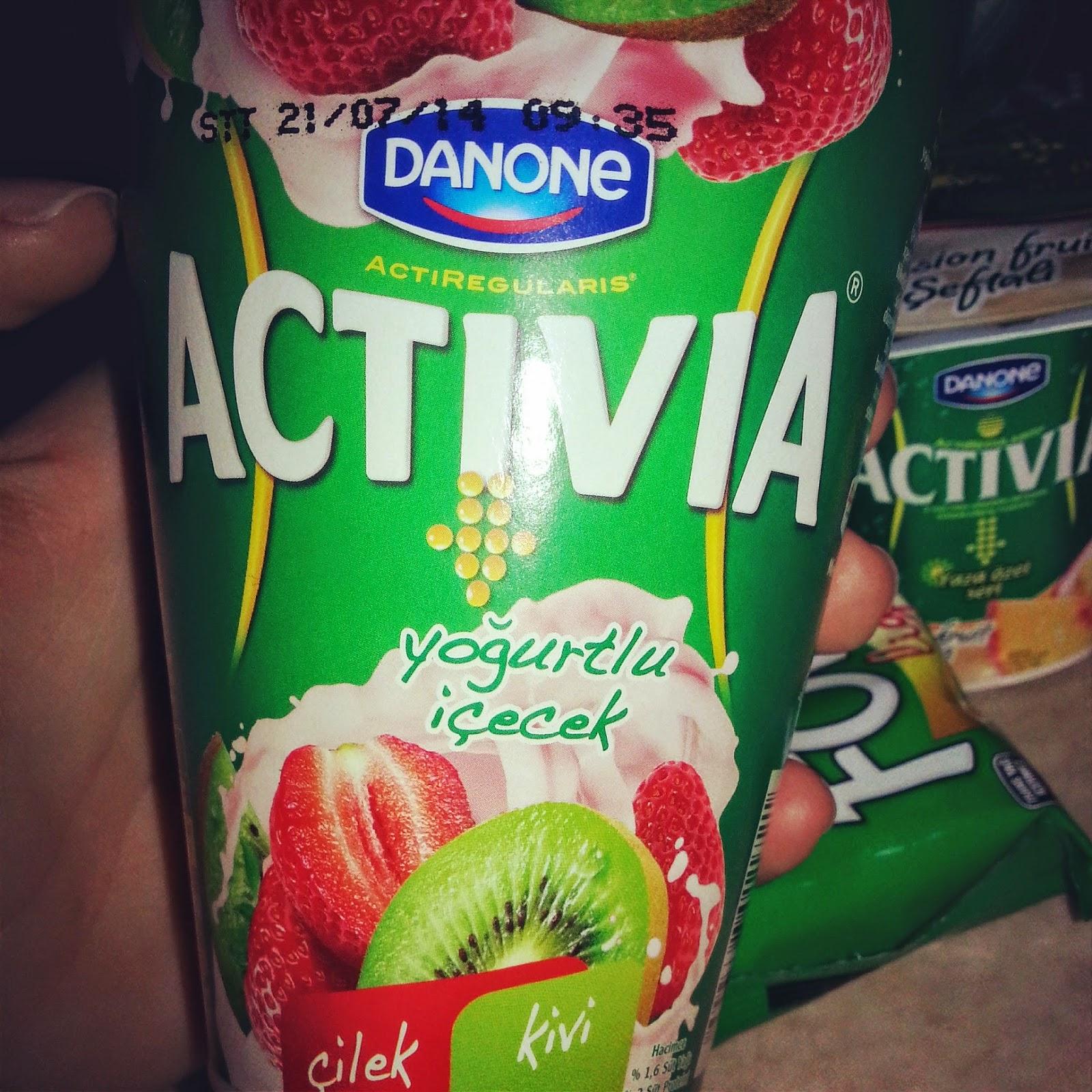 activia yoğurtlu içecek