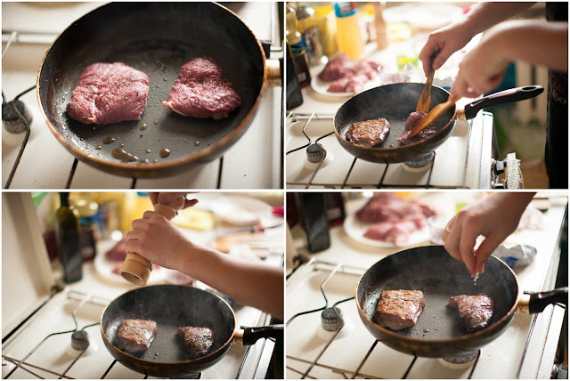 Жарим мясо на сковороде