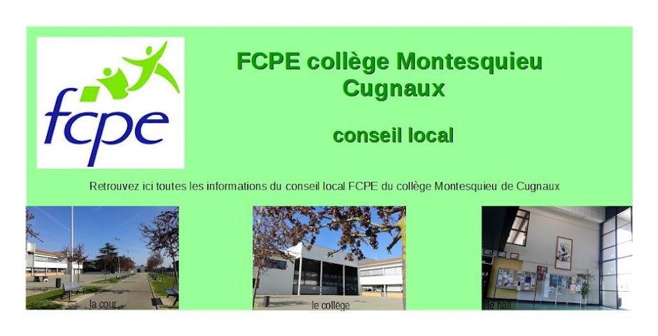 FCPE collège Montesquieu Cugnaux