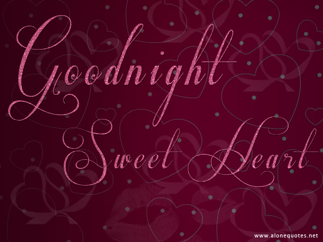 Goodnight message and wallpaper
