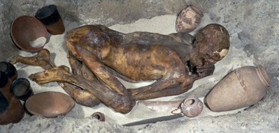 Scan reveals 5500-year old mummy was stabbed in back