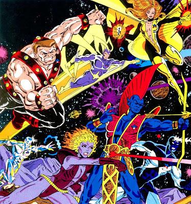 Dibujo de los Guardianes de la Galaxia originales