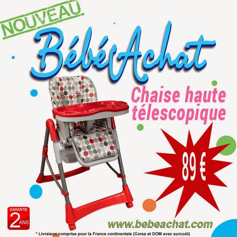 B b achat chaise haute t lescopique pour b b nouveau sur b b - Chaise haute telescopique ...