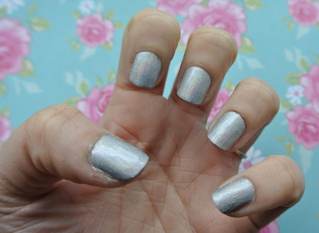 nails inc westbourne park hologram polish natural day light swatch