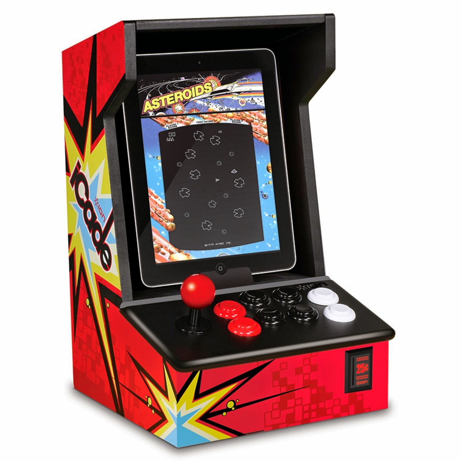 Are you a child of the 80s?  Did you dream of having a Pac Man game at home?  Now you can go old school with your own Arcade cabinet for your iPad!
