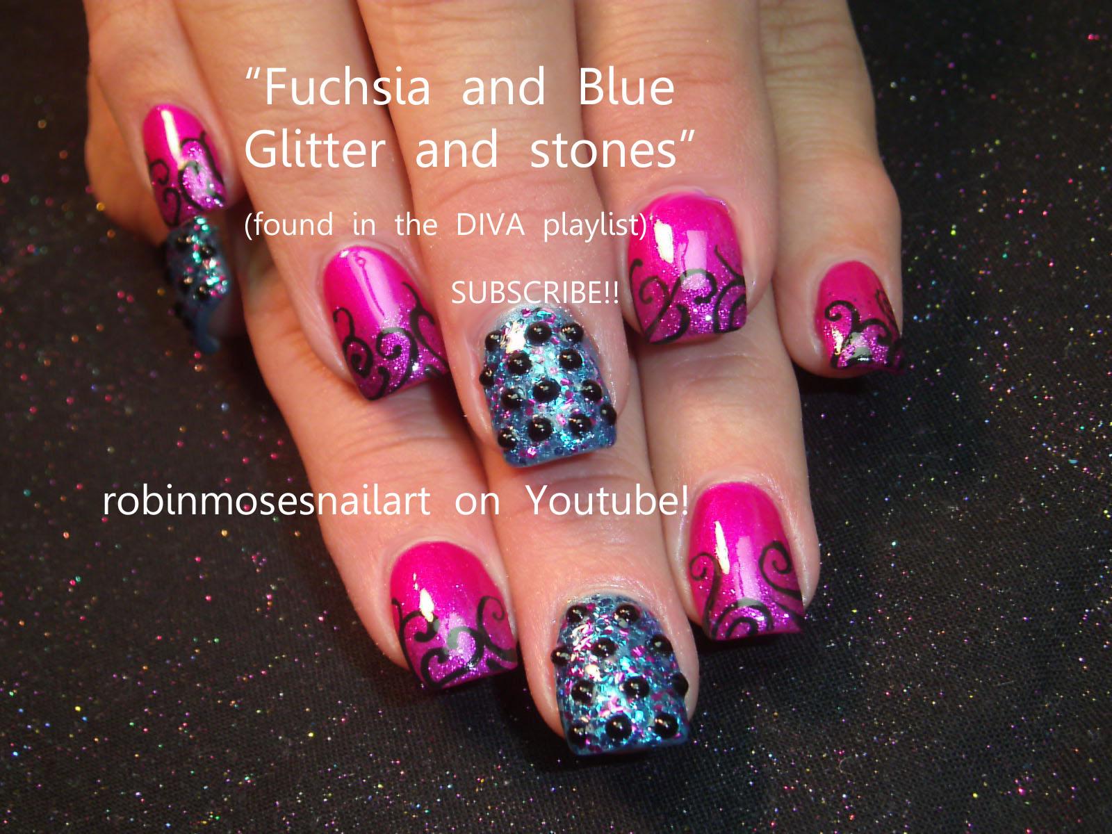 Nail Art Design Fuchsia Nail Art Glitter Nail Art Chanel Nail Art