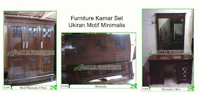 Kamar set Furniture Klender Motif Minimalis
