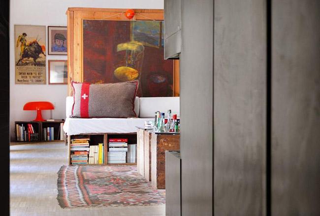decoracion con cajas de madera -detalle salon-living room