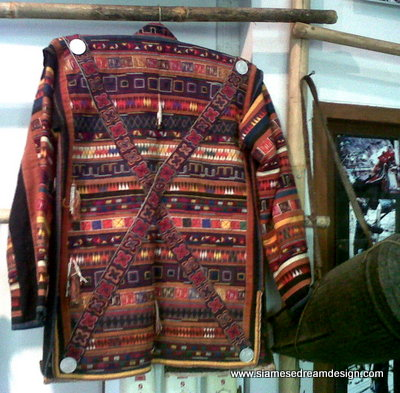 Vintage Akha headman embroidered and appliqued jacket