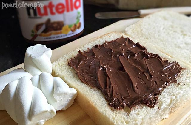 Panini de Nutella e Marshmallow