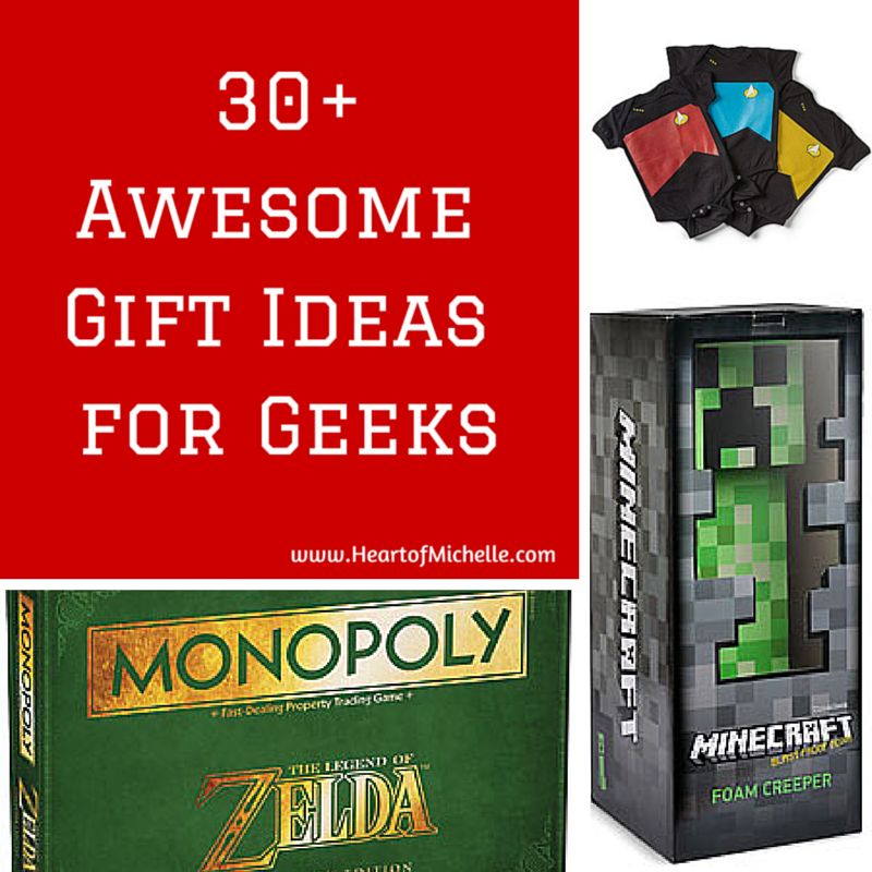 Find the perfect gift for that geek in your life with this gift idea guide from www.HeartofMichelle.com.
