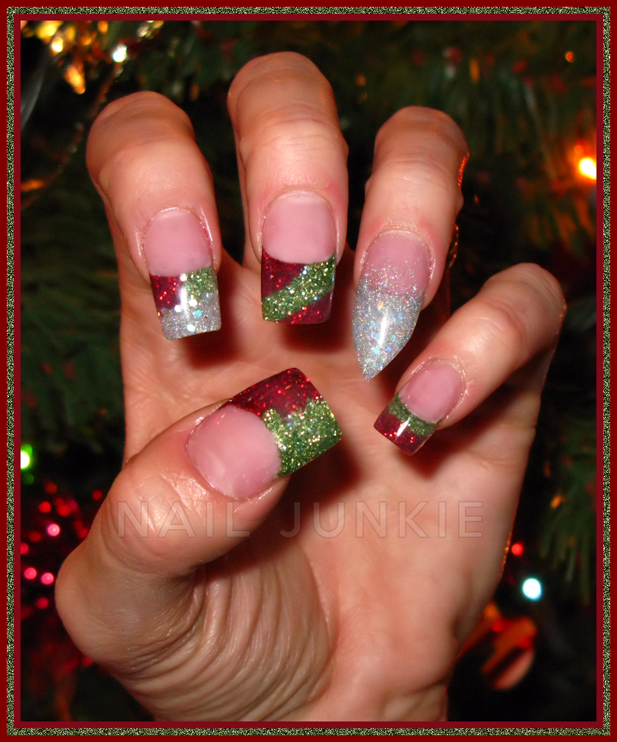 Acrylic nail designs for holidays nail junkie acrylic christmas acrylic nail designs for holidays nail junkie acrylic christmas design prinsesfo Gallery