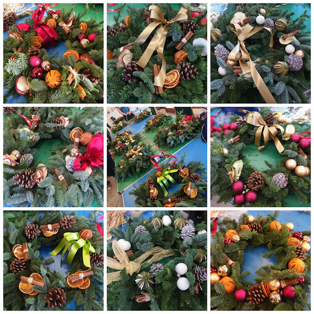 All the other Christmas wreaths made at the workshop