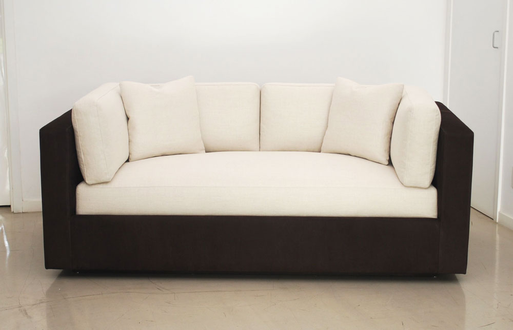 Classic design custom suede linen sofa for Suede furniture